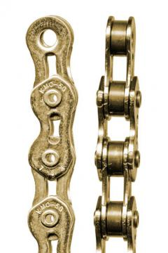"KMC ""710 Super Light Chain Ti-N Gold Kool"" Kette"